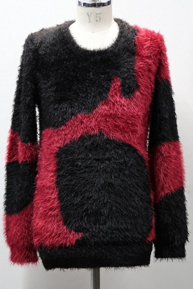 Random Pattern Round-neck Pullover Knit