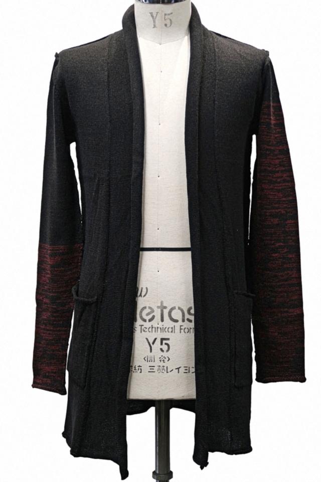 Wool,Acrylic Melange Cardigan Knit