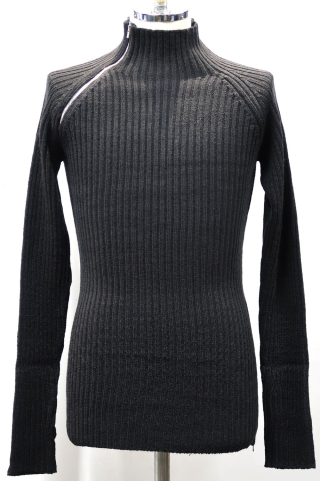 Wool,Acrylic rib turtleneck Knit *2color