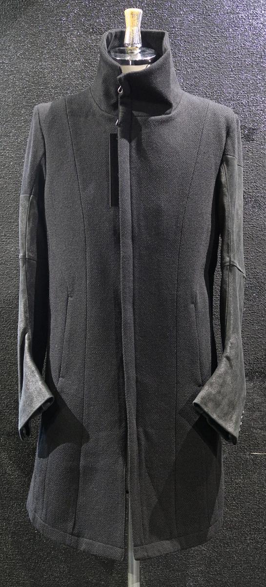 Dobby Melton Stand-upcollar Coat