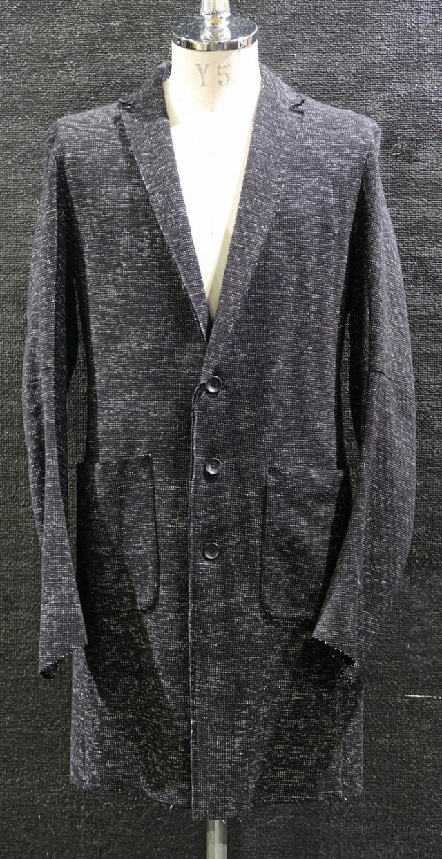 Tweed Knit Long Tailored Jacket