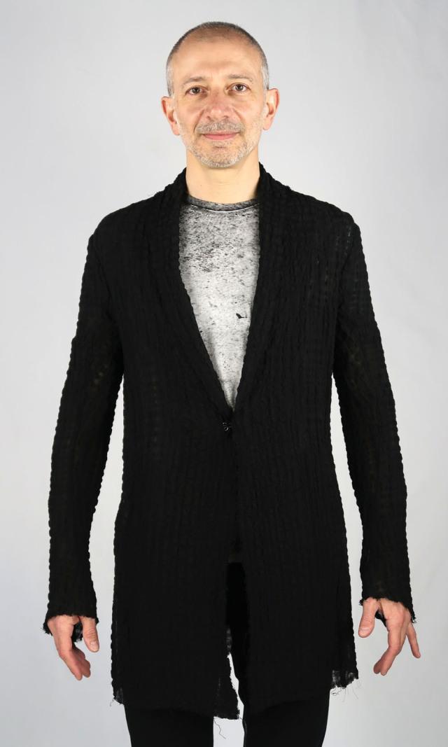 Seersucker Cardigan Jacket