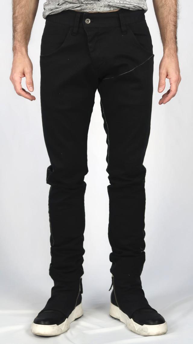 Cotton Stretch Drill Black Pants