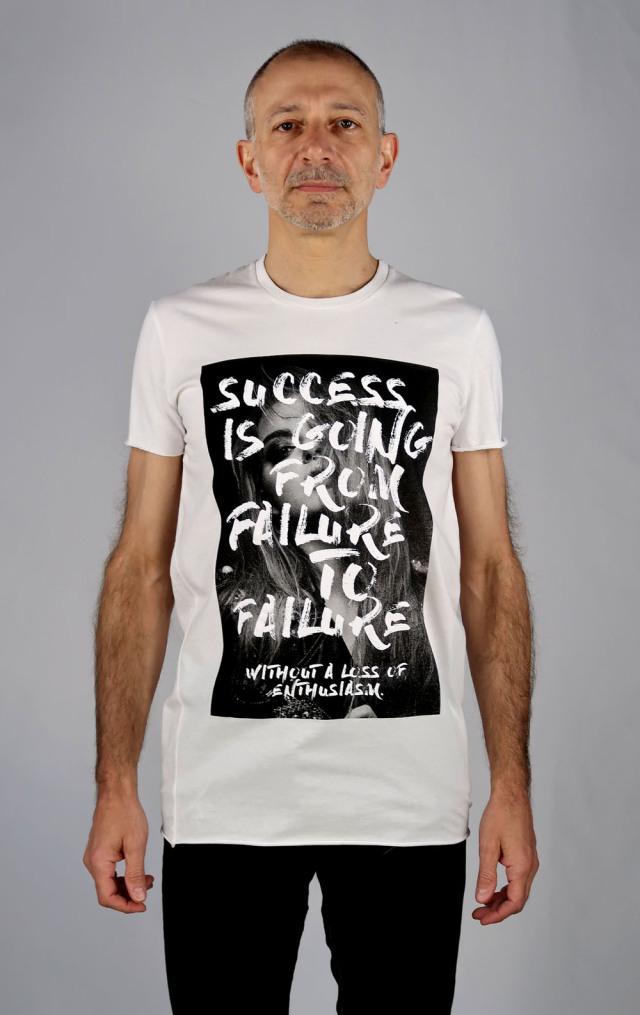 Cotton Round-binder neck T-shirt<Darkest Hour1><C#WH>