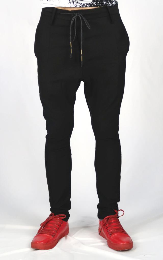 Linen Slab Inlay Sarrouel Pants