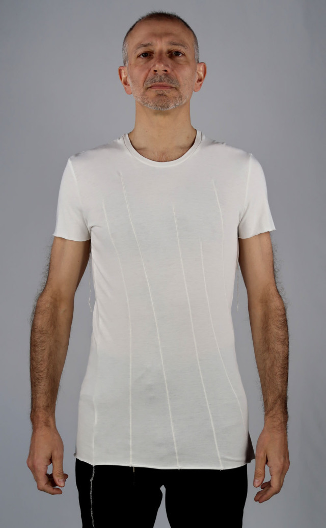 Random Dart-Seams Cut & Sew<C# Off White>