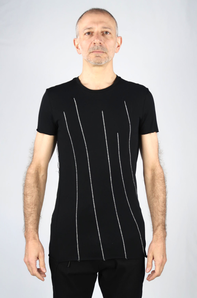 Random Dart-Seams Cut & Sew<C# Black>