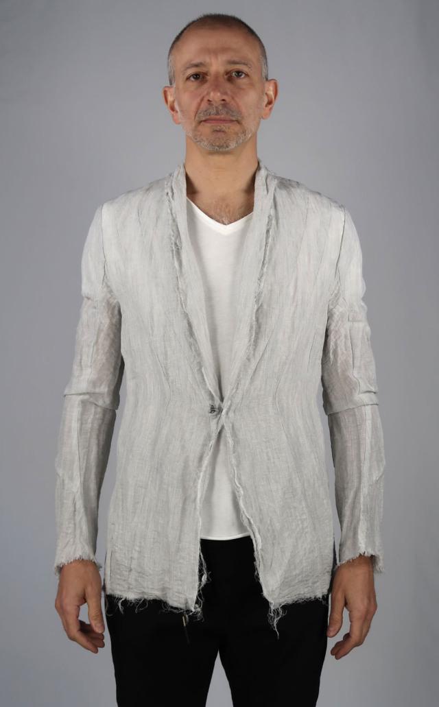 Linen Stretch Chambray Jacket <C# LG>