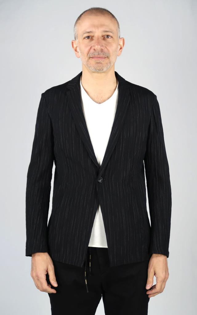 Cotton,Linen Stripe Jacket