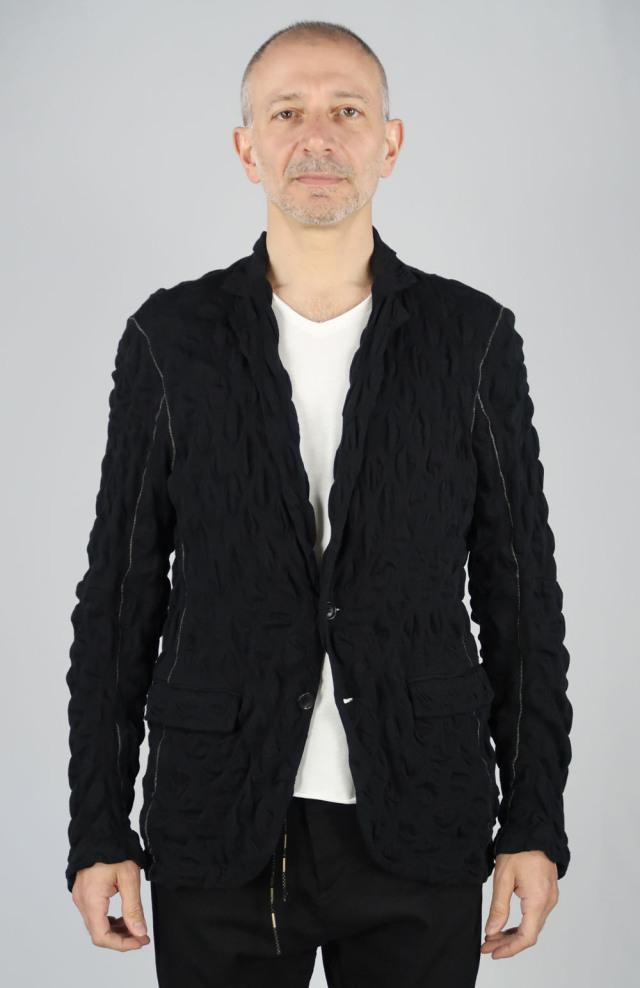 Cotton Polka-dot Jacquard Jacket