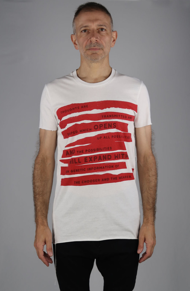 Cotto Round-binderneck T-shirt<All Possibilities><C# WH>
