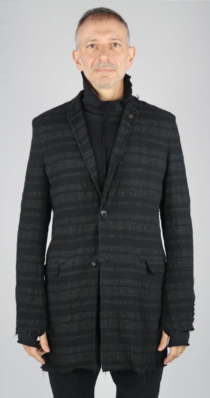 Wool,Cotton Salt Shrinking Long Jacket