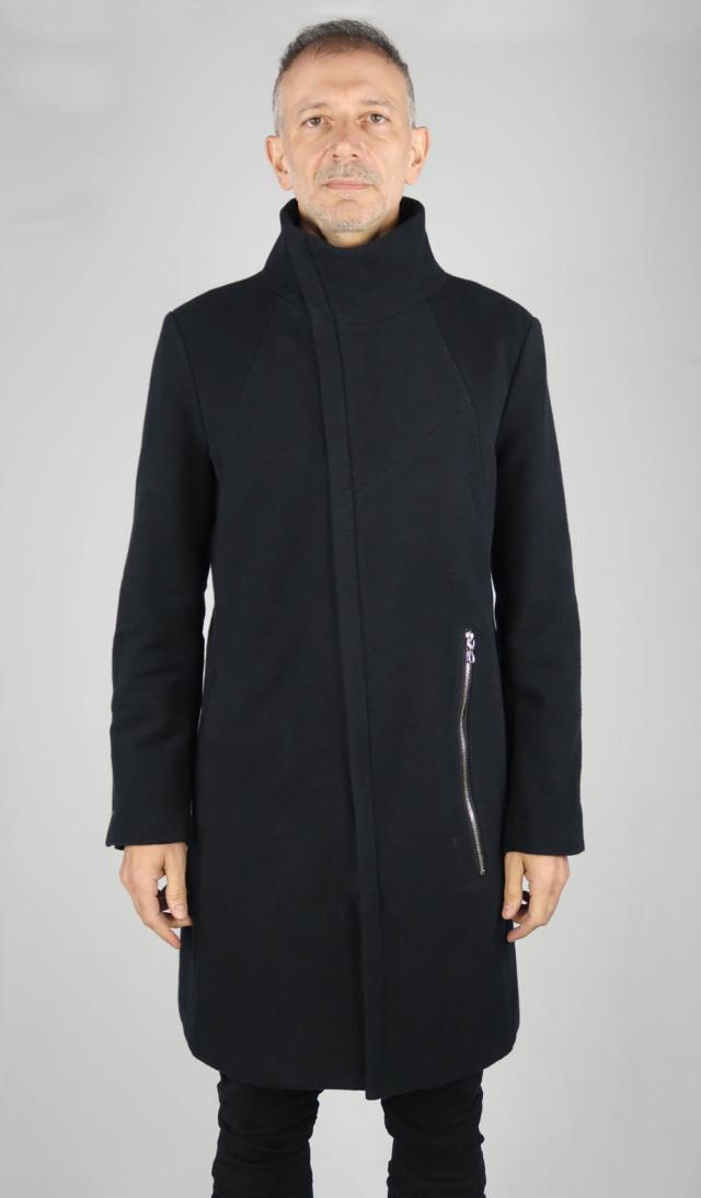 Cotton Melton Stand-upcollar Coat