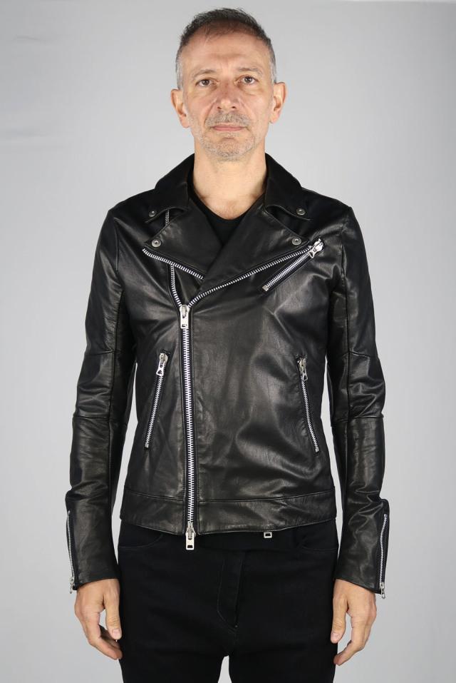 Goat Leather Double-front Blouson <C#BK>
