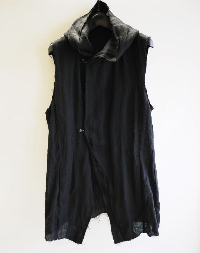 Linen Hood Vest*2色入