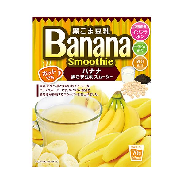 【まとめ買い24個セット】 黒ごま豆乳バナナスムージー 70g