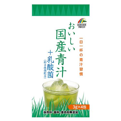 【まとめ買い100個セット】おいしい国産青汁+乳酸菌12g(3g×4袋)