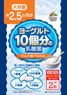 【まとめ買い12個セット】  ヨーグルト10個分の乳酸菌 大容量2.5ヶ月分