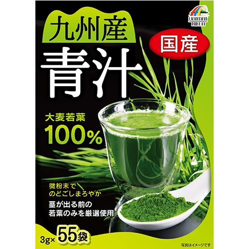 【まとめ買い12個セット】 九州産大麦若葉青汁100%165g(3g×55袋)
