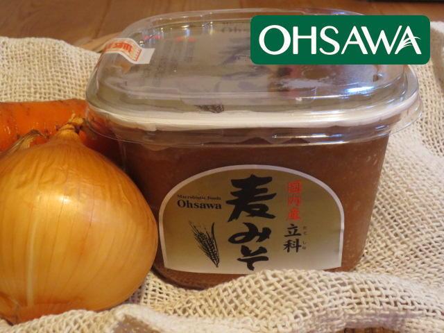 麦の風味が野菜によく合う【国内産立科麦みそ】オーサワジャパン