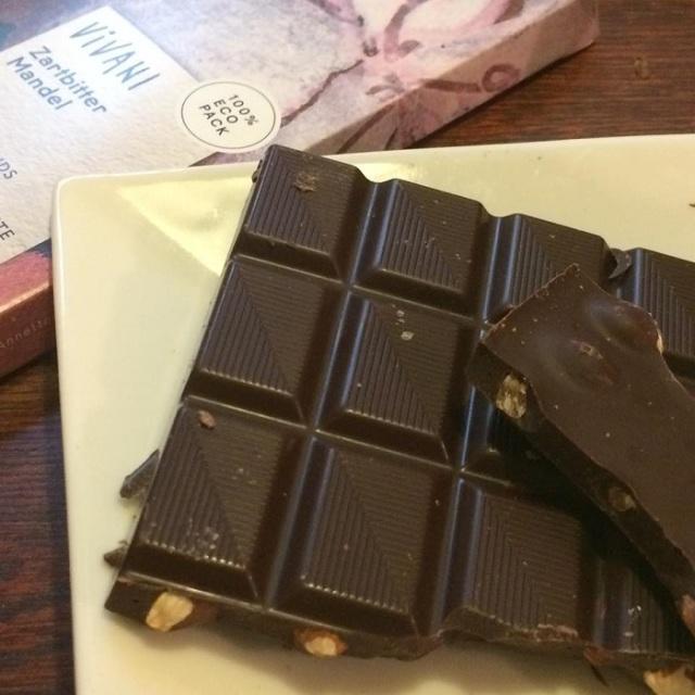 1ドイツの老舗チョコメーカー、オーガニック【ダークチョコアーモンド】ヴィヴァーニ(VIVANI)