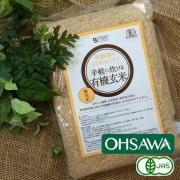 【炊飯器の白米モードで手軽に炊ける有機玄米(無洗米)】