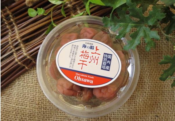 ほのかな木樽の香りと優しい酸味【海の精・上州梅干】オーサワジャパン