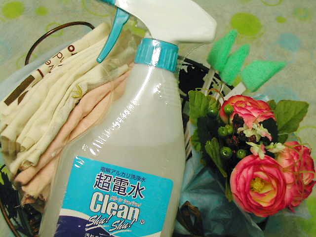 プロ御用達・除菌、抗菌、汚れ落としの【超電水クリーンシュシュ】