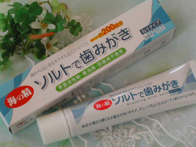 歯磨き専用の塩が入った【ソルトで歯みがき(ねりタイプ)】