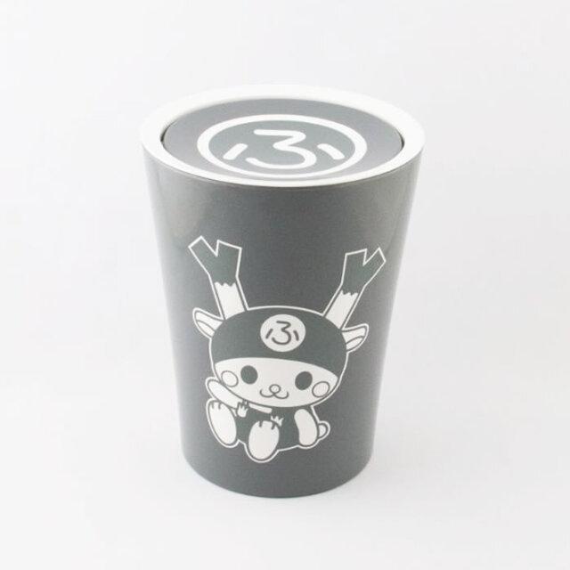 スイングゴミ箱(黒)22cm