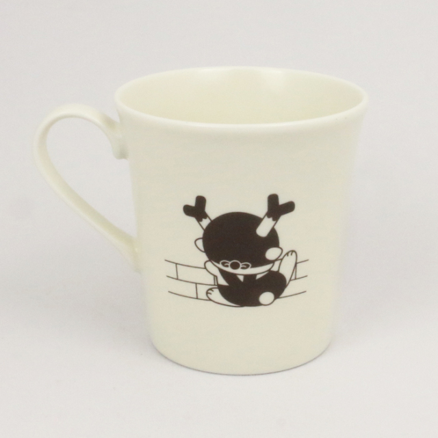ふっかちゃんマグカップ モノクロ