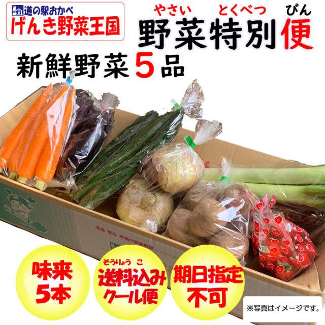 新鮮野菜5品