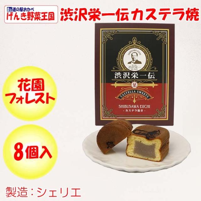 渋沢栄一伝 カステラ焼き 8個入り
