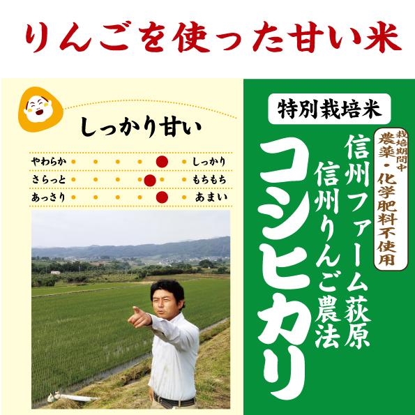 リンゴ農法コシヒカリ