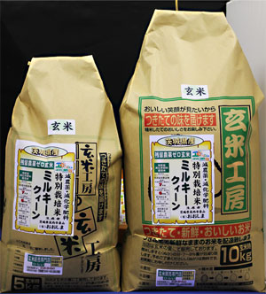 30年産【送料無料】残留農薬ゼロ 茨城県産ミルキークィーン玄米15kg 玄米食最適米