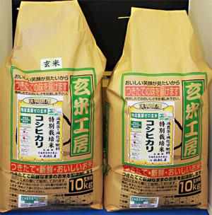 令和2年産【送料無料】残留農薬ゼロ 茨城県産コシヒカリ玄米20kg 玄米食最適米