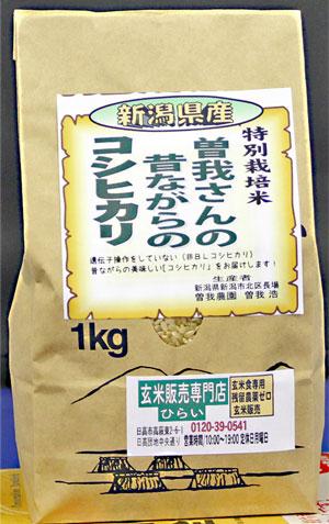 令和2年産 新潟県産コシヒカリ1kg 昔ながらのコシヒカリ!