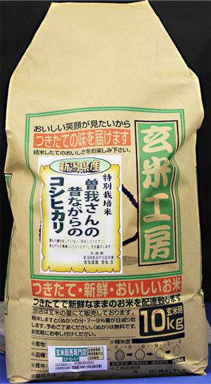 31年産 【送料無料】新潟県産コシヒカリ玄米10kg 昔ながらのコシヒカリ