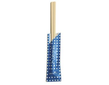 WB-25 割り箸ボールペン 豆しぼり 青