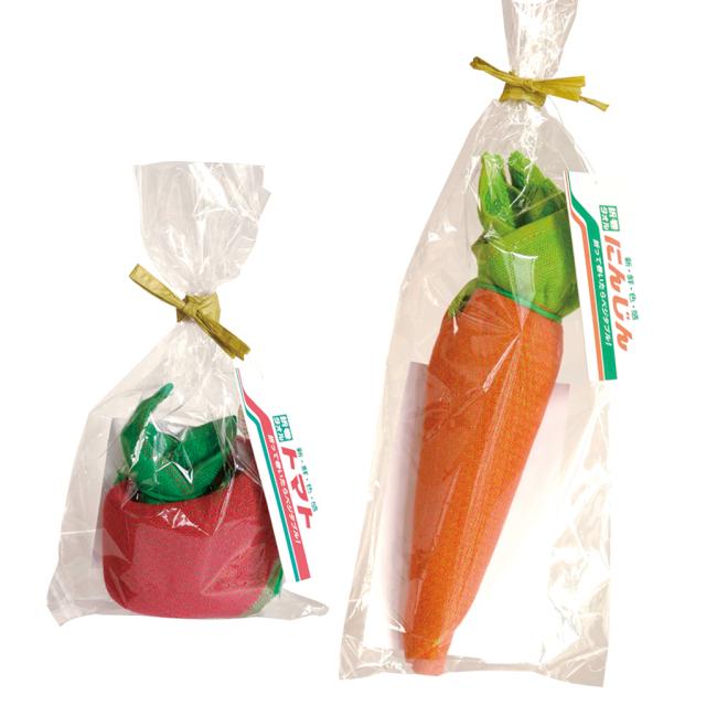 折り巻きタオル -まきまき- にんじん・トマト 2個セット