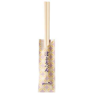 割り箸ボールペン 和柄(七宝桃)