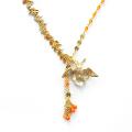 アンバランスオレンジネックレス (50cm)
