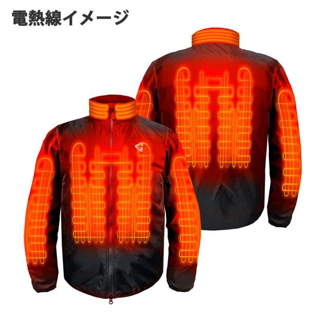 12Vジャケット電熱線イメージ