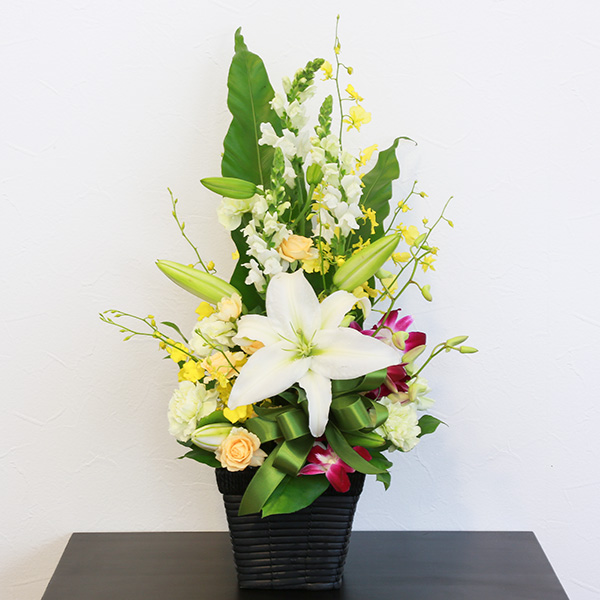 お供え花 7,500円タイプ 生花アレンジ 線香セット