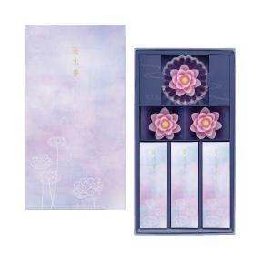 蓮水香 白檀の香り/蓮ローソク(ピンク)