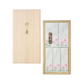 蓮水香 白檀の香り/蝋燭セット 桐