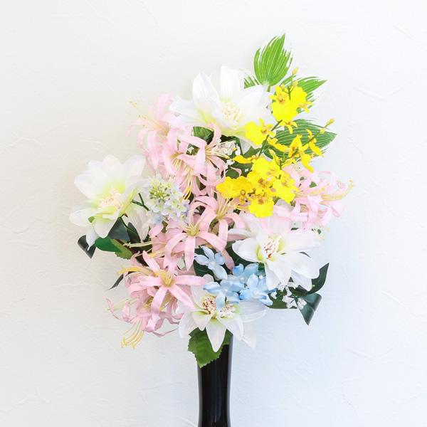 仏花 墓花 アートフラワー 1対(2本入り) 線香セット