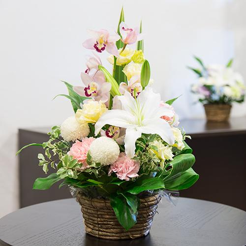 お供え花 9,000円タイプ 生花アレンジ 線香セット