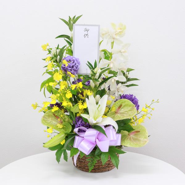 お供え花 12,000円タイプ 生花アレンジ 線香セット
