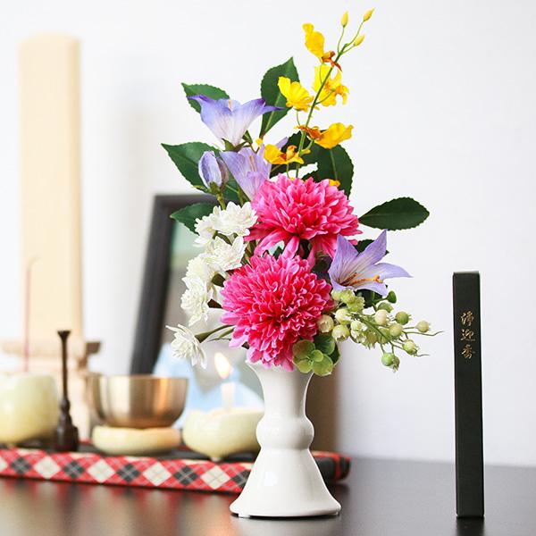 アートフラワー 仏花 お供え花 線香セット